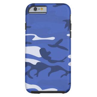 Shades of Blue Camo Design Tough iPhone 6 Case