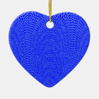 Shades of Blue Ceramic Heart Decoration