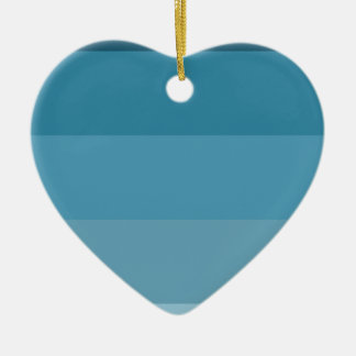 Shades of blue ceramic heart decoration
