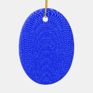 Shades of Blue Ceramic Oval Decoration