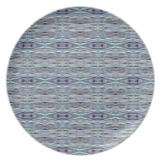 Shades of Blue Gray Background Pattern Party Plate