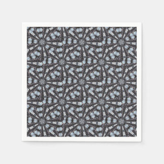 Shades of Blue Kaleidoscope Disposable Napkin