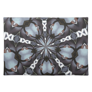 Shades of Blue Kaleidoscope Placemat