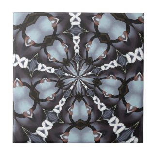 Shades of Blue Kaleidoscope Tile