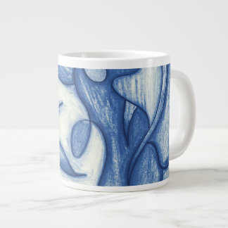 Shades of Blue Large Coffee Mug