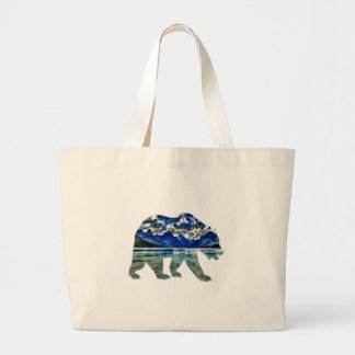 Shades of Blue Large Tote Bag