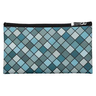 Shades of blue makeup bag