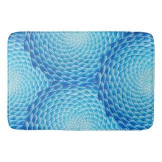 Shades Of Blue Mandala Bath Mat