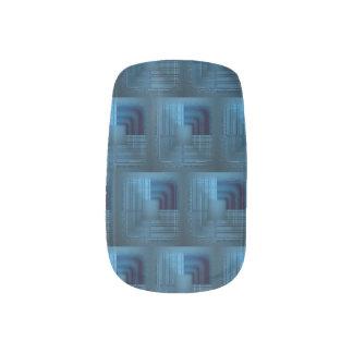 Shades of Blue Minx Nail Art