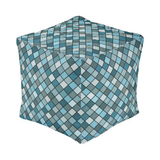 Shades of blue pouf