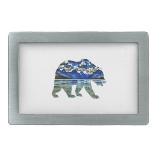 Shades of Blue Rectangular Belt Buckle
