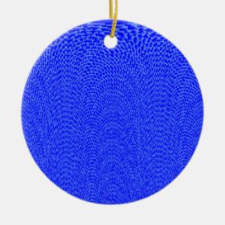 Shades of Blue Round Ceramic Decoration