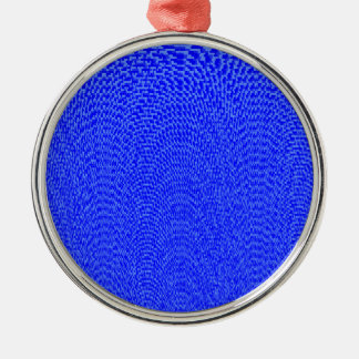 Shades of Blue Silver-Colored Round Decoration