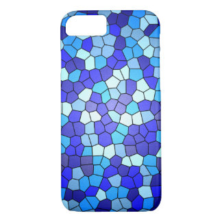 Shades of Blue Stained Glass by Shirley Taylor iPhone 8/7 Case