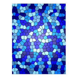 Shades Of Blue Stained Glass Postcard