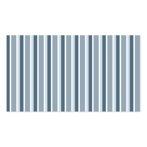 Shades of Blue Stripes Business Cards