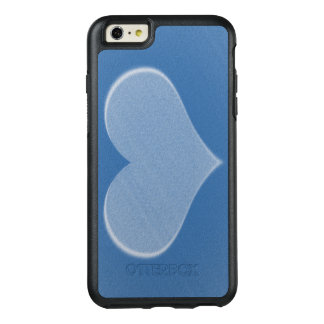 Shades of Blue Two Tone Heart OtterBox Case