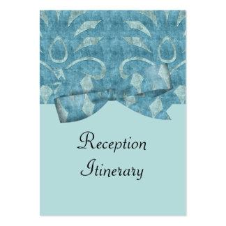 Shades Of Blue Velvet Look Wedding Business Card Template