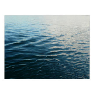 Shades of Blue Water Abstract Nature Photography Poster