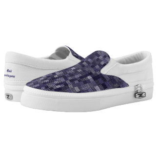 Shades Of Blueberry Slip-On Shoes
