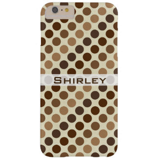 Shades of Brown Polka Dots by Shirley Taylor Barely There iPhone 6 Plus Case