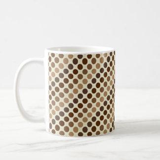 Shades of Brown Polka Dots by Shirley Taylor Coffee Mug