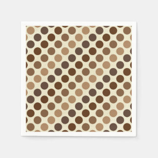Shades Of Brown Polka Dots by Shirley Taylor Disposable Serviettes