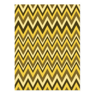 Shades of Brown Zig Zag Design Post Cards