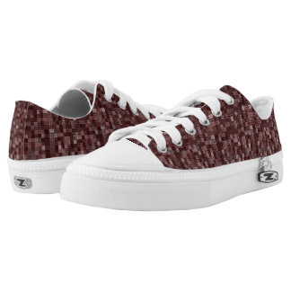 Shades Of Burgundy Low Tops