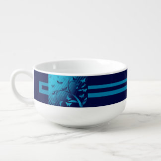Shades of Butterflies Soup Mug