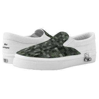 Shades Of Deep Murky Ocean Green Slip-On Shoes