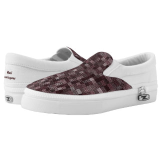 Shades Of Deep Pale Rose Slip On Shoes