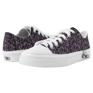 Shades Of Eggplant Gray Low Tops