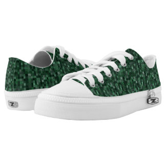Shades Of Emerald Printed Shoes