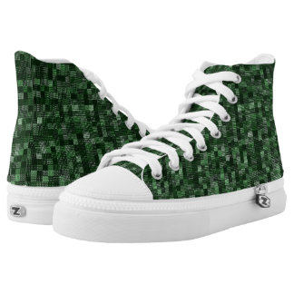 Shades Of Forest Green High Tops
