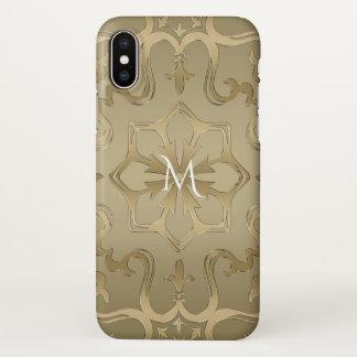 Shades of Gold Mandala Monogram iPhone X Case
