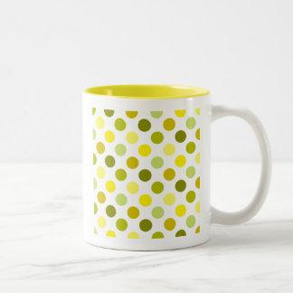 Shades of Gold Polka Dots Coffee Mugs