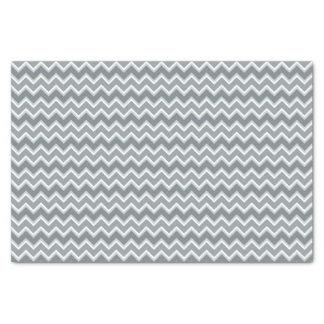 Shades of Gray Chevron Striped Tissue Paper
