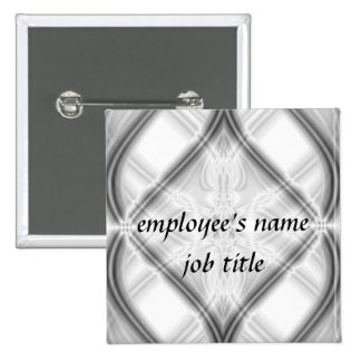Shades Of Gray Employee Name Tag Button