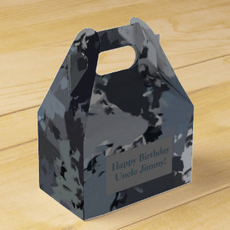 Shades of Gray Splatter Favour Box