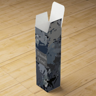 Shades of Gray Splatter Wine Box