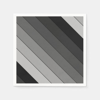 Shades of Gray Stripes Pattern Elegant Disposable Serviette