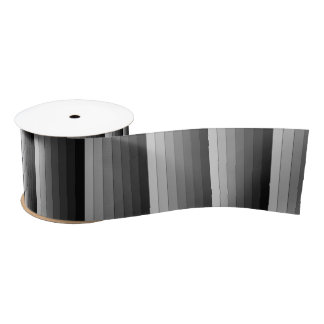 Shades of Gray Stripes Pattern Elegant Satin Ribbon