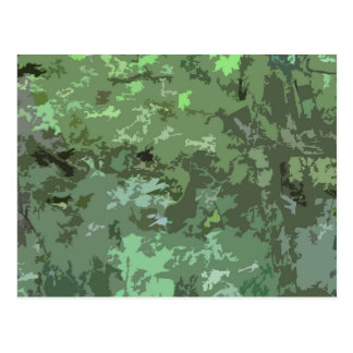 Shades of Green Camo Abstract Nature Camouflage Postcards