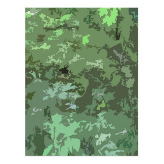Shades of Green Camo Abstract Nature Camouflage Postcard