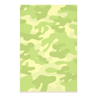 Shades of Green Camo Stationery