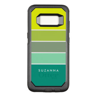 Shades of Green Color Palette 001 OtterBox Commuter Samsung Galaxy S8 Case