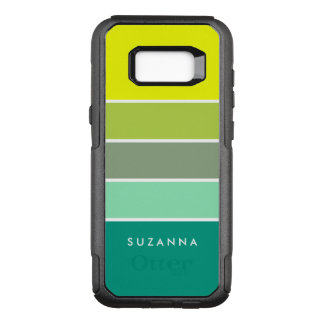 Shades of Green Color Palette 001 OtterBox Commuter Samsung Galaxy S8+ Case
