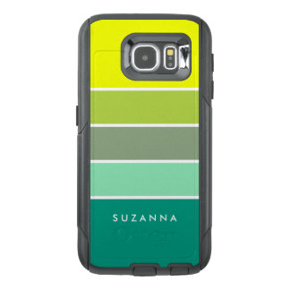 Shades of Green Color Palette 001 OtterBox Samsung Galaxy S6 Case