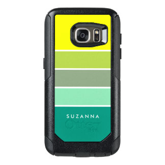 Shades of Green Color Palette 001 OtterBox Samsung Galaxy S7 Case